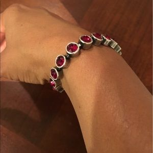 Touchstone Crystal Red Bracelet